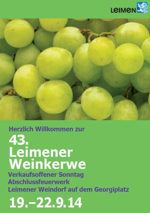 4152 - Leimener Weinkerwe Großbanner