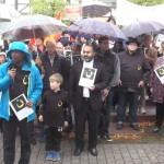 Alle christlichen Konfessionen protestierten in Leimen gemeinsam mit Mahnwache