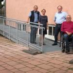 Endlich barrierefrei: </br>Die Rampe am Bürgerhaus Leimen!