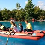 Übung der Rettungs-Hundestaffel mit der DLRG-Jugend