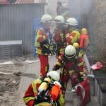 """Lage: """"Brand im Schülerhort Sandhausen"""" – Jahreshauptübung der Feuerwehr"""