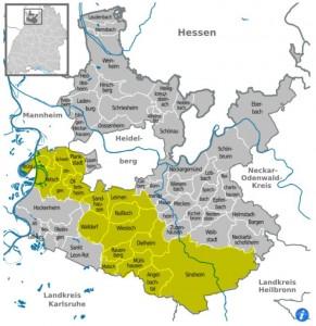 4518 - Mediengruppe Rhein-Neckar Landkarte Verbreitungsgebiet