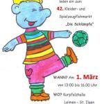 """1. März – Flohmarkt """"Schlümpfe"""""""