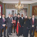 Syrisch-orthodoxer Bischof Mor Philoxenus Mattias Nayis zu Besuch im Leimener Rathaus