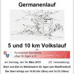 14. März: Germanenlauf / Volkslauf über 5 und 10 km