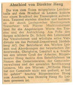 4885 - Wilhelm Haug - Zeitungsartikel 1