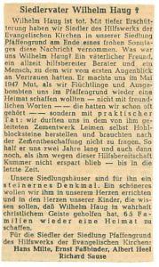 4885 - Wilhelm Haug - Zeitungsartikel  1949 08 12