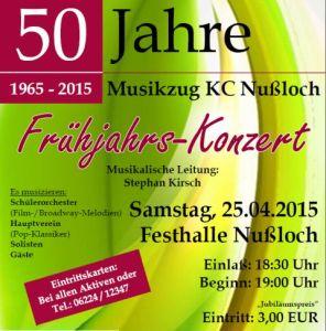 4905 - Musikzug Nussloch 50 Jahre Plakat