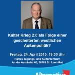 """24. April – AfD: Dr. Alexander Gauland spricht im """"Harras"""""""