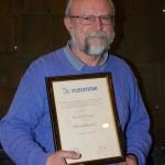 Harald Hauser Ehrenmitglied beim TC Blau-Weiß 1964 Leimen