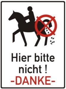 5019 - Pferdeäpfel Schild