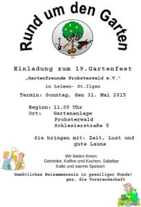 2163 - Gartenfreunde Probsterwald Plakat 480