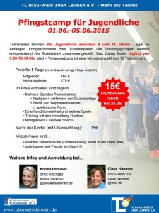2190 - Tennis Pfingstcamp Plakat