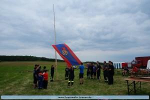 1. Hissen der Fahne