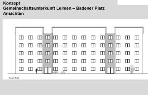 2257 - Fluechtlingsunterkunft Leimen - Ansicht