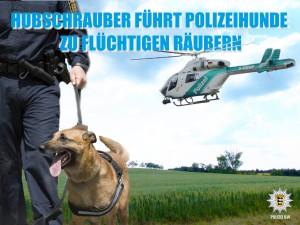 2261 - Polizei Hubschrauber und Hund