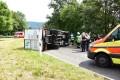 LKW auf B3 Abfahrt Leimen-Süd umgestürzt – Keine Verletzten