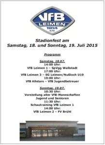 5391 - Stadionfest VfB Plakat
