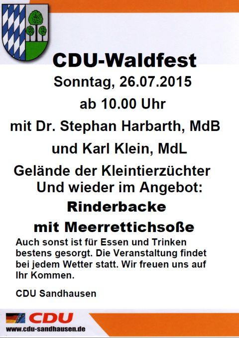 5391 - Waldfest CDU SA Plakat