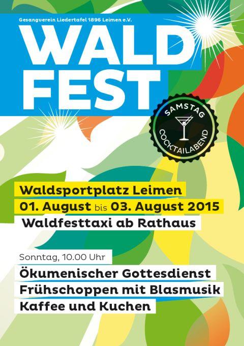 5414 - Waldfest Liedertafel Leimen Plakat