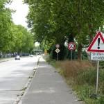 Sprungschanzen auf K4155 zwischen Leimen und St. Ilgen: Höchstgeschwindigkeit 30 km/h
