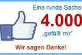 """Wir sagen Danke für 4.000 Facebook """"Gefällt-mir""""-Klicks"""