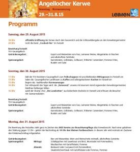 5563 - Angellocher Kerwe Programm