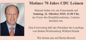 5600 - CDU Martinee Plakat