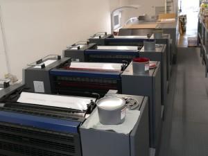 Die neue Maschine von Heidelberger Druckmaschinen bei Druckpress Leimen