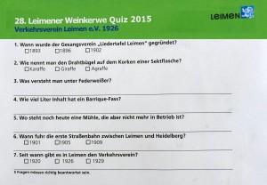 5663 - Kerweschluß - 9 - Quiz