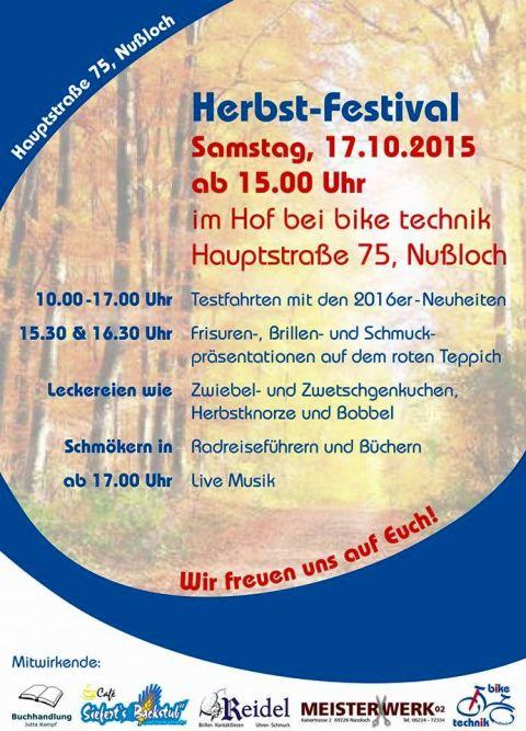 5714 - Herbstfest Herb Nussloch Plakat