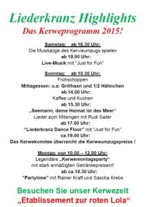 5727 - Liederkranz Kerwe Plakat