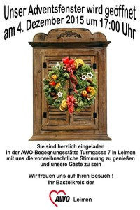 5892 - AWo Adventsfenster Plakat