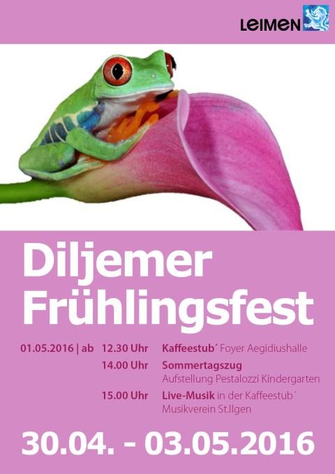 6865 - Frühlingsfest Dilje Plakat 480