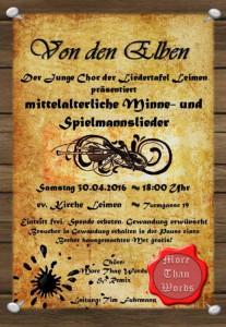6899 - Spielmannslieder Plakat 480
