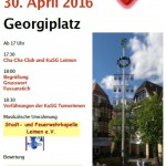 Samstag: Maibaumfest von Leimen aktiv auf dem Georgi-Marktplatz