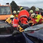 DRK St. Leon und DRK Leimen bei Jahreshauptübung der Feuerwehr St. Leon-Rot
