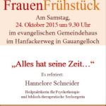 24. Oktober: Erstes ökumenisches FrauenFrühstück in Gauangelloch