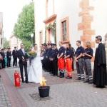 Das DRK Leimen gratuliert Kai und Julia Brümmer zur Hochzeit