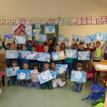 Schmetterlingsklasse der GSS malte Winterbilder – Als Postkarten jetzt im Verkauf