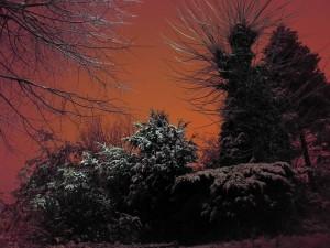5961 - Schnee Sonnenuntergang Winter Magic