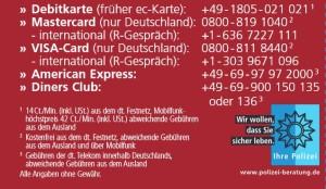 5978 - Telefonnummern für Kartensperrungen