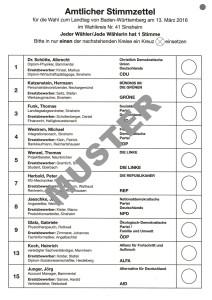 6708 - Stimmzettel Muster