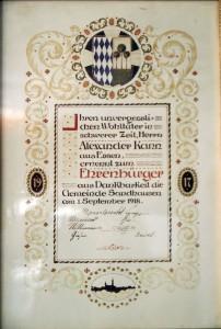 6735 - Alexander Kann Sandhausen Ehrenurkunde
