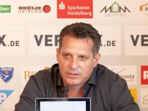 Alois Schwarz im März 2016 noch als Trainer des SV Sandhausen