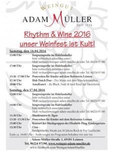 6914 - Weingut Adam Müller Plakat 480