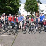 Hochwasser, Historie und was Herzhaftes: Die Rote Rad-Tour 2016