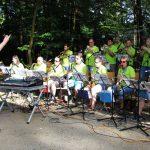 Heiße Musik und heißes Wetter beim Waldfest des Musikvereins Sandhausen