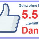 Hat nix mit Karneval zu tun: Danke für 5.555 Likes auf unserer Facebookseite