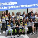 63. Europäischer Wettbewerb 2016 – Preisträger des Friedrich-Ebert-Gymnasiums